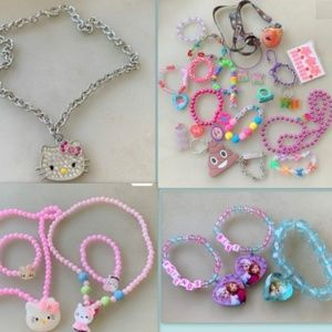 kids jewelry Frozen Anna Elsa Kitty lot